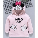 Fox Baby Full Sleeve Hooded Sweatshirt Minnie Mouse Print