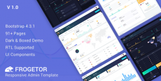 Frogetor – Responsive Admin Dashboard Template
