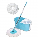 Spin Mop with Easy Wheels and Bucket with 2 Refills