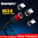 GARAS Magnetic USB Cable For iPhone/Micro USB&Type C