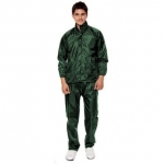 Green Raincoat With Lower And Cap
