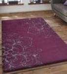 Grey Floral Pattern Hand Tufted Polyester Carpet 6 *4 feet