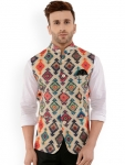 Only at Rs. 1199 Men Multicoloured Printed Nehru Jacket