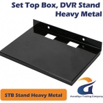 Home Black Steel Wall Mount Stand For Set Top Box/ DVD Player