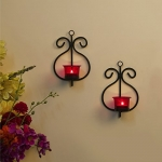 Homesake Metal Wall Scone with Glass and T-Light Candles