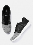 HRX by Hrithik Roshan Men Grey & Black Colourblocked Sneakers