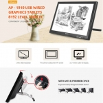 Alfawise AP – 1910 USB Wired Graphics Tablet 8192 Level 2000LPI – BLACK EU