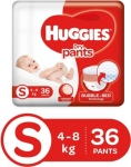 Only at Rs. 261 Huggies Dry pants Small – S  (36 Pieces)