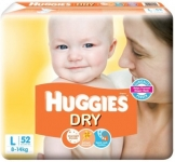 Huggies New Dry Diapers – L  (52 Pieces)