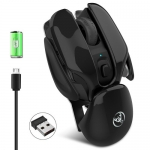 Wireless Charging Silent Mouse with USB Receiver Metal