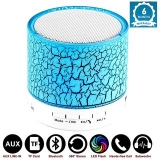 I KALL Wireless LED Bluetooth Speakers & FM Radio for All Android & iPhone Smartphones