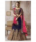 Designer Blue Bangalore Silk Circular Semi Stitched Lehenga