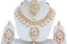 Jewels Guru  Alloy Jewel Set  (Gold, White)