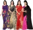 Kashvi Sarees Printed Fashion Georgette Saree  (Pack of 4)