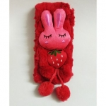 Kid-O-World Plush Bunny Applique Muffler