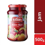 Kissan Mix Fruit Jam, 500g Jar