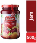 Kissan Mixed Fruit Jam with real fruit ingredients 500 gm