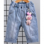 Kookie Kids Elastic Waist Capri With Clip-On Toy