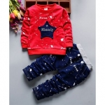 Kookie Kids Full Sleeves Tee & Lounge Pant Star Applique