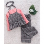 Kookie Kids Full Sleeves Top With Bottoms Checked