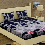 Double Bedsheet with Two Full Size Pillow Cover Pack of 1