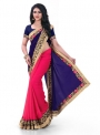 Embroidered Daily Wear Georgette Saree