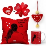 Indigifts Cushion, Mug, Showpiece, Soft Toy, Greeting Card Gift Set