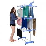 3 Layer Cloth Drying Stand with Braking Wheel System