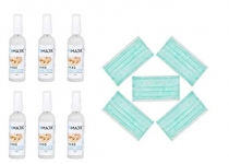 Only at Rs. 999 Hand Clean Sanitizer (Set Of 6 Pcs With Free 5 Pcs Face Mask)