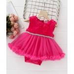 Mark & Mia Flower Design Sleeveless Onesie Dress