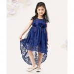 Mark & Mia Sleeveless Frock With Lace Pattern & Flower Corsages