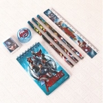 Only at Rs. 99 Stationery Set Blue Red – 7 Pieces