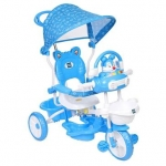 Tricycle With Printed Canopy Bunny  – Blue