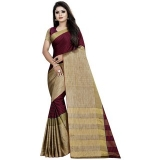 Meia Women Cotton Silk Striped Saree