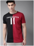 Stylogue Men Regular fit Round neck Colorblocked T-Shirt