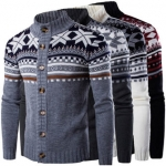 Mens Winter Sweater Knitwear Knitted Cardigan Coats