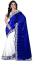 MMW Women's Embroidered Traditional wear Saree with Blouse Piece(Free Size)