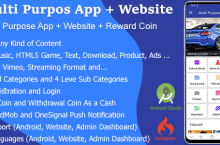Multi Purpose App  Website  Reward Coin