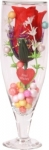 Valentine day special gift Clear Rose Artificial Flower with Pot