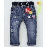 Noddy Full Length Text Print Jeans With Belt