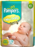 Pampers Active Baby Diapers – New Born  (72 Pieces)