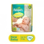 Pampers Active Baby Diapers New Born – 72 Pieces