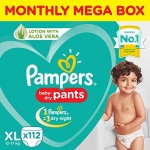 Pamper New Diapers Pants Monthly Box Packs, X-Large