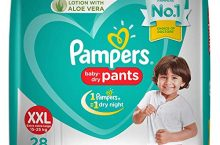 Only at Rs. 559 Pampers New Diapers Pants, XX-Large (28 Count)