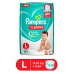 Pampers Pant Style Diapers Large – 64 Pieces