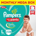 Pampers Pants Diapers Monthly Box Pack New – L