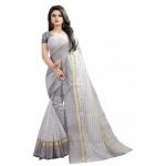 Pari Designerr Multi Color Striped PolyCotton Saree With Blouse