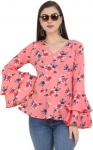 party bell sleeve floral woment top