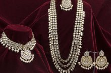 Only at Rs. 1319 Gold-Plated Kundan Beaded Jewellery Set