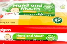 Only at Rs. 367 Pigeon Hand And Mouth Wipes 60 Pieces